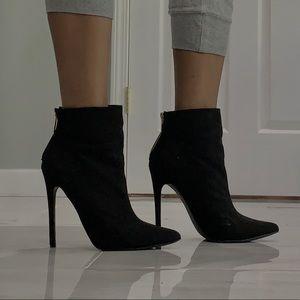 Black heeled booties